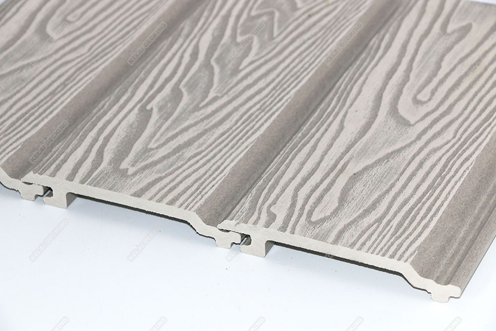 exterior wall cladding 145x20.5mdeep embossing wood grain in white color